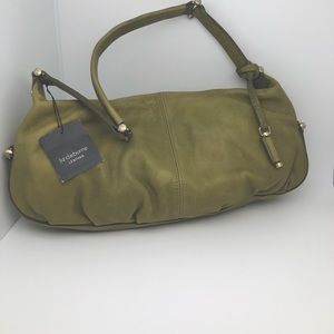 NWT Springgreen Liz Claiborne Leather Satchel Bag